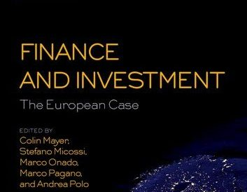 Book Launch – Finance and Investment: The European Case