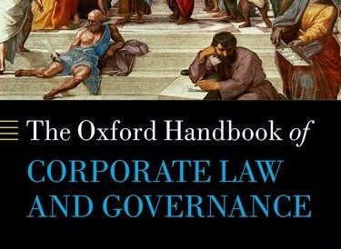 Book Launch: The Oxford Handbook of Corporate Law and Governance